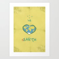 we love hEARTH Art Print