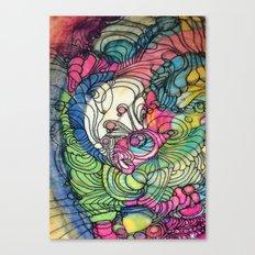 Pink v Blue Canvas Print