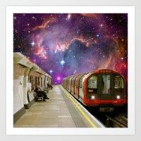 Sitting, Waiting, Wishing - London Tube Series Art Print