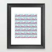 Glamping stripes Framed Art Print