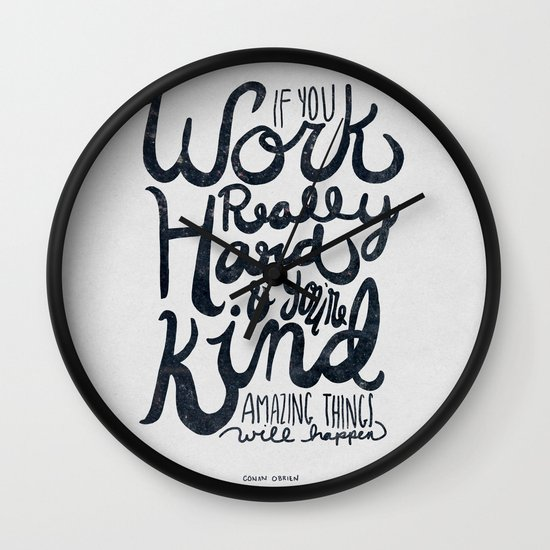 Work Really Hard Wall Clock