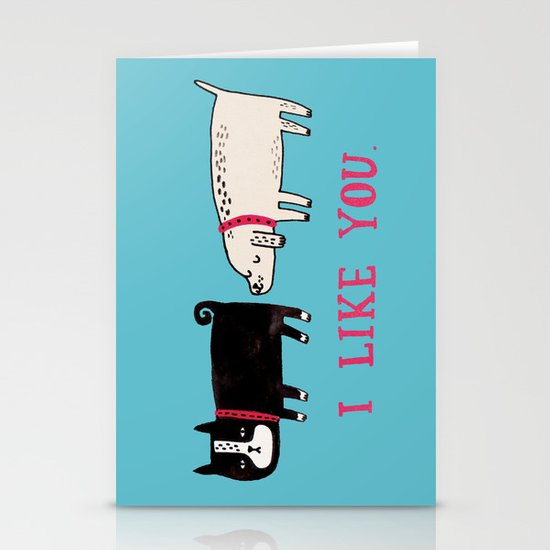 I Like You. Stationery Card
