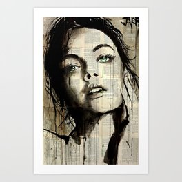 Art Print - SOMETHING IN THE WAY - LouiJoverArt