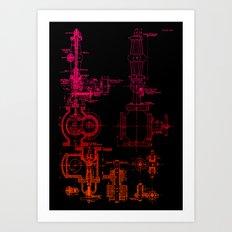 Steam pipe Art Print
