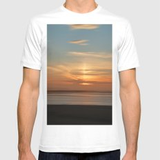 Somerset Sunset White Mens Fitted Tee SMALL