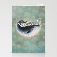 The Blue Whale Stationery Cards