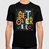 GET OVER IT Mens Fitted Tee Black SMALL
