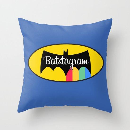 Batstagram Throw Pillow