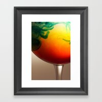 A Glass Of Colour Framed Art Print