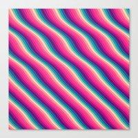 Abstract Color Burn Patt… Canvas Print