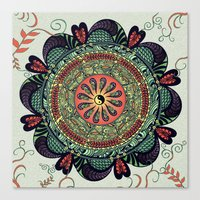 812 Multicolor Mandala Canvas Print
