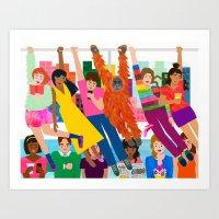 Straphangers Art Print