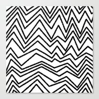 Graphic_Chevron Freehand Canvas Print