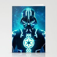 Tron Vader Blue Stationery Cards