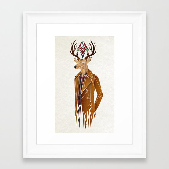 dear deer Framed Art Print