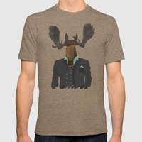 Mr Moose Mens Fitted Tee Tri-Coffee SMALL