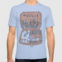 Travel Mens Fitted Tee Athletic Blue SMALL