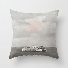 Sound Ferry Throw Pillow
