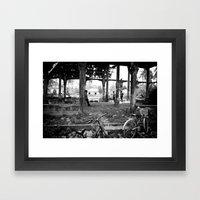 In Line For Bocce Framed Art Print