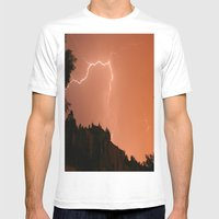 Pink Flash Mens Fitted Tee White SMALL