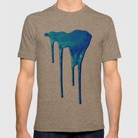 Splatter Mens Fitted Tee Tri-Coffee SMALL