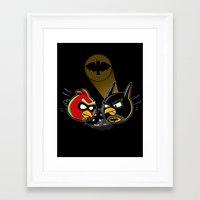 Batbird & Robin Framed Art Print