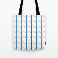 My Favorite Dinosaur Stripe Tote Bag