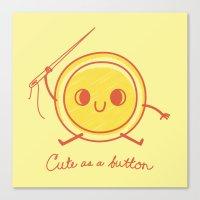 Cute As A Button! Canvas Print