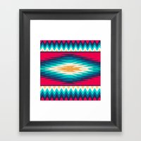 SURF GIRL CHEVRON Framed Art Print