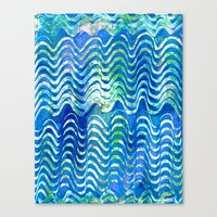 Rippling Waves Canvas Print