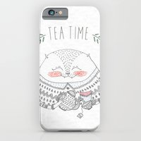 tea time cat iPhone 6 Slim Case