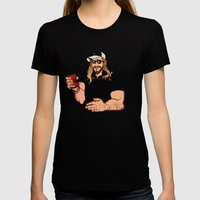 DOTH THOU EVEN LIFT, BROTHER? Womens Fitted Tee Black SMALL