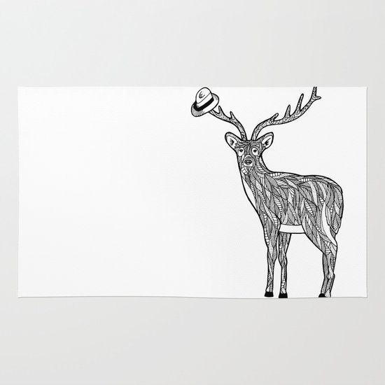 Deer Area & Throw Rug