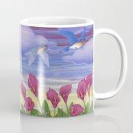 Eastern Bluebirds, Purpl… Mug