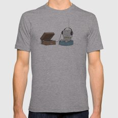 Little Robot  Mens Fitted Tee Athletic Grey SMALL