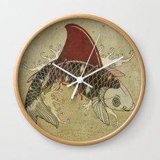 koi Shark Fin 03 Wall Clock