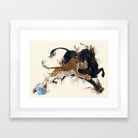 A Battle Of Wills Framed Art Print