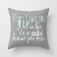 When I Saw You (Mint) Throw Pillow