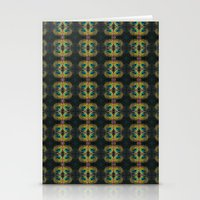 Peacock Bead Abstract Stationery Cards