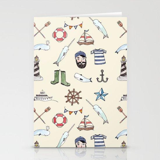 Nautical Pattern Stationery Card