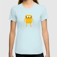 Jake Pixel Womens Fitted Tee Light Blue SMALL