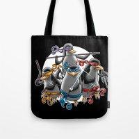 Ninja Penguins Tote Bag