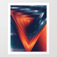 Triangled Art Print