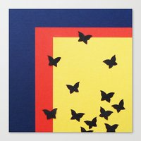Butterfly Squares Paperc… Canvas Print