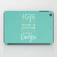 Romans 12:12 iPad Case