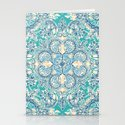 Gypsy Floral in Teal & Blue Stationery Cards