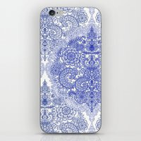 Happy Place Doodle in Cornflower Blue, White & Grey iPhone & iPod Skin