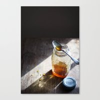 Sunlight and Honey - Kitchen Food Art Canvas Print