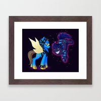 Mad T Ponies 'Absolem and Chesshur' Framed Art Print