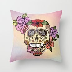 Sweet Sugar Skull Throw Pillow